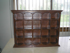 VINTAGE CUBBY WALL WOOD CABINET WITH 20 SLOTS - $59.99