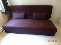 like new ikea sofa bed + a free cover and cousins