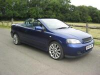 Vauxhall Astra 1.8i 16v Exclusiv Convertible, Just 75000 Miles, Leather Interior