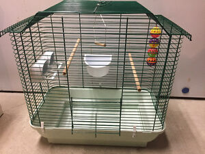 Small Bird Cage with 1/2 bag of bedding