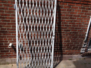INDOOR SECURITY DOOR GATE - KEYED, FOLDING, HINGED FOR STORE