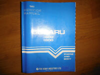 1983  Subaru 1600 1800 Service Repair Manual Brat 4WD Turbo
