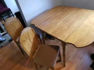 Drop Leaf Table & Four Chairs