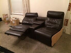 Leather recliner sofa, quick sale open to offers