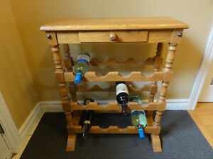 Oak Wine Rack Peterborough Peterborough Area image 1