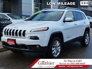 2016 Jeep Cherokee Limited V6 4x4 w/Safety  Luxury Group  - Low