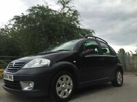 Citroen c3 1.4 automatic metallic black panoramic roor