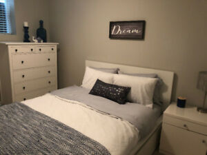 FURNISHED and ALL EQUIPPED 1 Bedroom Basement Suite