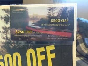 $250 - $500 Coupon for a Canoe