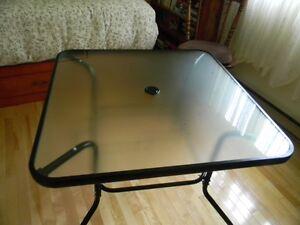 table vitré