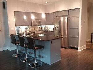* Refinishing Condo Kitchen Cabinet Call 416 357 9092 *