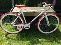 Unisex Red & White Great Looking Fixie Bike