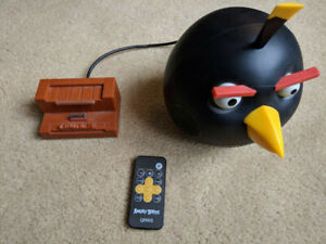 Angry Birds speaker with ipod dock and line-in
