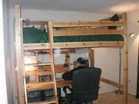 IKEA Full-size Bunk bed with Desk and Drawers