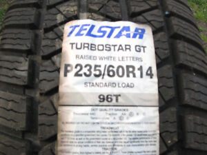 New set of 4 Telstar Turbo GT 235/60R14 tires