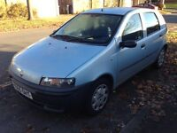 2001 Fiat Punto 1.2cc stereo 5 door nice cheap reliable car needs MOT should pass no probs