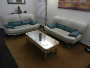 Italian Leather Sofas Set of 3 for $200 a piece