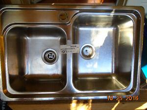 Blanco top-mount double kitchen sink