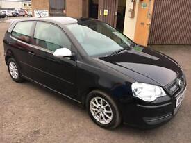 5808 VW Polo 1.4TDI Tech BlueMotion Black 3 Door 63117mls £0.00 Road Tax