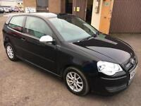5808 VW Polo 1.4TDI Tech BlueMotion Black 3 Door 63117mls £0.00 Road Tax