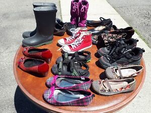 Variety of boy's and girl's shoes. Sizes 12-3 .