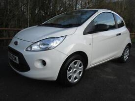 12/61 FORD KA 1.2 STUDIO 3DR HATCH IN WHITE WITH ONLY 37,000 MILES