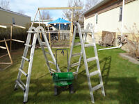 5' Step Ladder (s), 2 units belonging together, convertible)