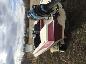16 foot Glaston boat, motor and trailor