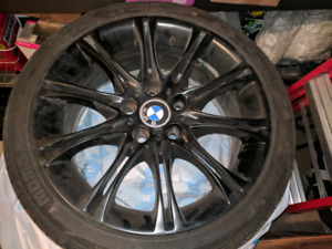 """BMW 18""""  staggered rims and tires"""