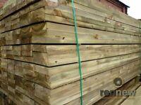 New Softwood Garden Railway Sleepers | 2400 x 200 x 50 | Landscaping