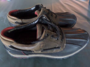 Sperry Top-Sider duck shoes men size 9.5 leather upper