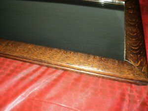 "GORGEOUS! LARGE 1/4"" Cut Oak Wood Rectangular Mirror NEAR MINT! Windsor Region Ontario image 2"