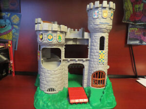 Fisher Price Castle with Medieval figures, cannon, etc