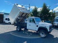 Land Rover Defender 130 TIPPER 9 ft alloy body 2.2I TD 2012 mot 14 /07/2021