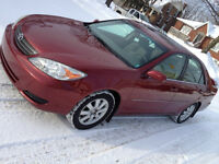2002 TOYOTA CAMRY XLE SUNROOF ALLOYS WOODENTRIM CERTIFIED