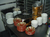 ASSORTED PLATES AND BASKETS