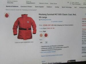 Mustang Survival Jacket - Never Worn!! ONLY $185!!