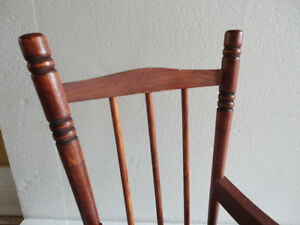 Handmade solid wooden decorative rocking chair for display London Ontario image 8