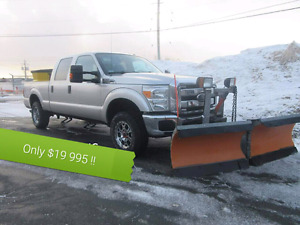 2012 f250 xlt. $18000 with plow and salter
