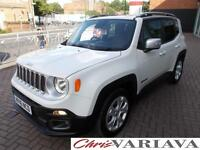2016 Jeep Renegade 1.4 Multiair Limited 5dr Petrol white Manual