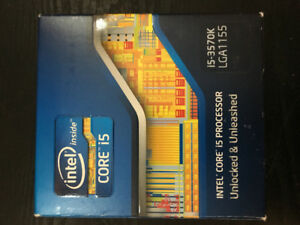 Intel Core i5-3570K, motherboard and Ram