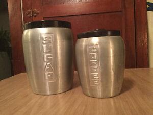 Vintage 2-piece canister set Regina Regina Area image 1