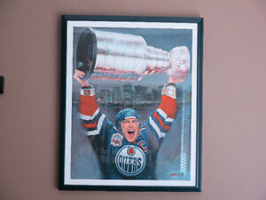 Oilers Framed Prints, Autographed collectibles and more
