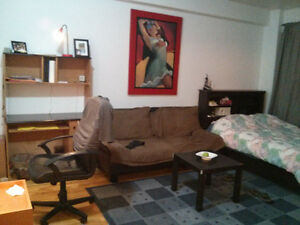 Nice furnished studio on Cote-St-Luc Road available immediately