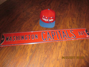 Washington Capitals Ave Street Sign.Plus Hat!