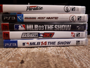 PS3 SLIM (160GB) $130  - 5 Games + 2 Controllers