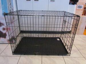 Cage pour Moyen chien, en métal tres solide et pliable 35x25x22