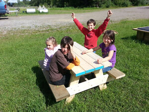 solid wood kids picnic table