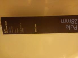 Household John Lewis Chrome 28mm curtain rail