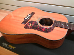Rare Washburn D25S-12N 12-string acoustic with active pickup